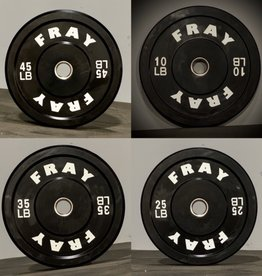 Fray Rubber Bumper Plate 230 Pound Set