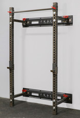 "Savage Series Fold Back Wall Mount Rack 3 X 3 Depth 21.5"" (Raw Clearcoat)"