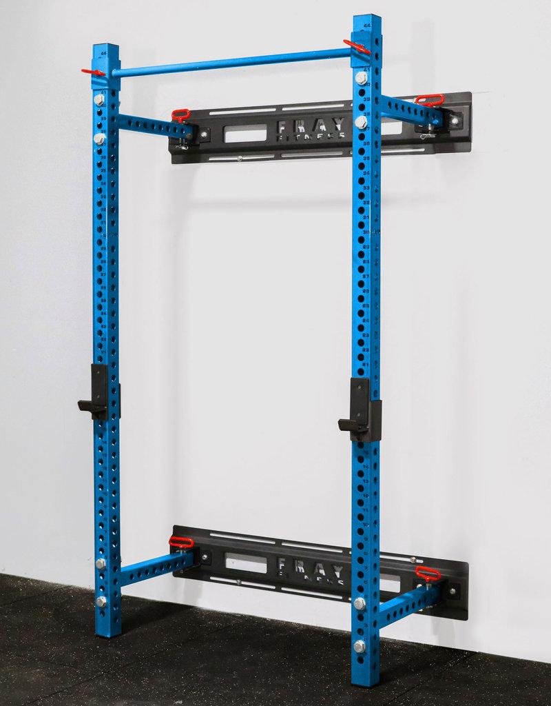 "Savage Series Fold Back Wall Mount Rack 3 X 3 Depth 21.5"" (Blue)"