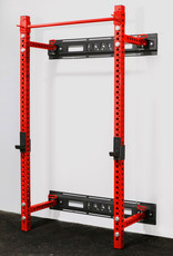 "Savage Series Fold Back Wall Mount Rack 3 X 3 Depth 21.5"" (Red)"