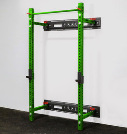 "Savage Series Fold Back Wall Mount Rack 3 X 3 Depth 21.5"" (Green)"
