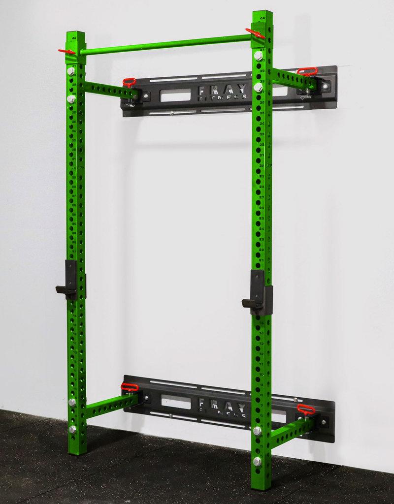 "Savage Series Fold Back Wall Mount Rack 3 X 3 Depth 21.5"" (Green)"
