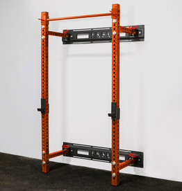 "Savage Series Fold Back Wall Mount Rack 3 X 3 Depth 21.5"" (Orange)"
