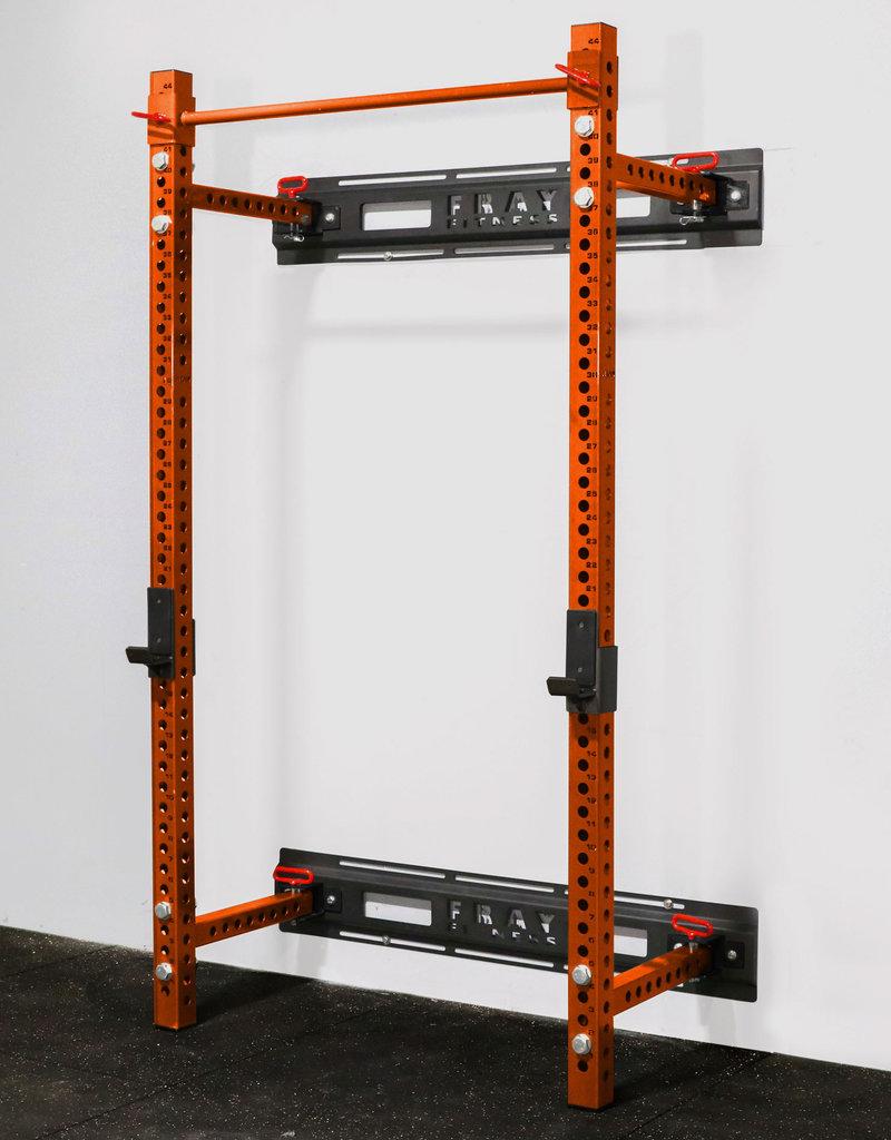 """Savage Series Fold Back Wall Mount Rack 3 X 3 Depth 21.5"""" (Orange)"""