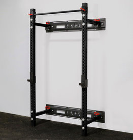 "Savage Series Fold Back Wall Mount Rack 3 X 3 Depth 21.5"" (Black)"