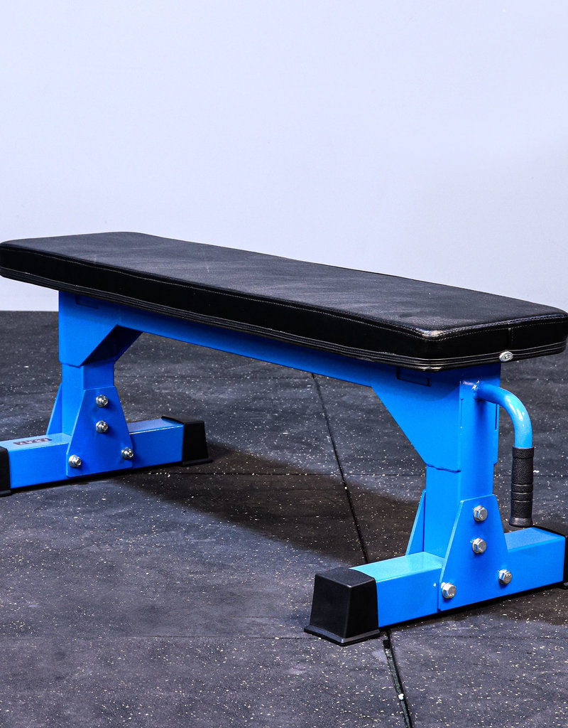 "FB Commercial 3"" x 3"" 11 Gauge Flat Bench (Blue)"