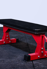 "FB Commercial 3"" x 3"" 11 Gauge Flat Bench (Red)"