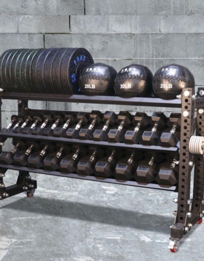 "Savage Series Storage Rack With Wheels 45"" x 70"" Dumbbell/Kettle"