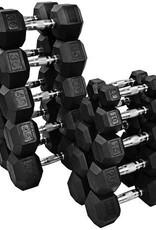 Coated Hex Dumbbell Complete Set 5-50