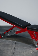 FAB Incline Flat Adjustable Bench (Red)