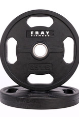 Olympic Rubber Coated Weight Plate - 35 LB