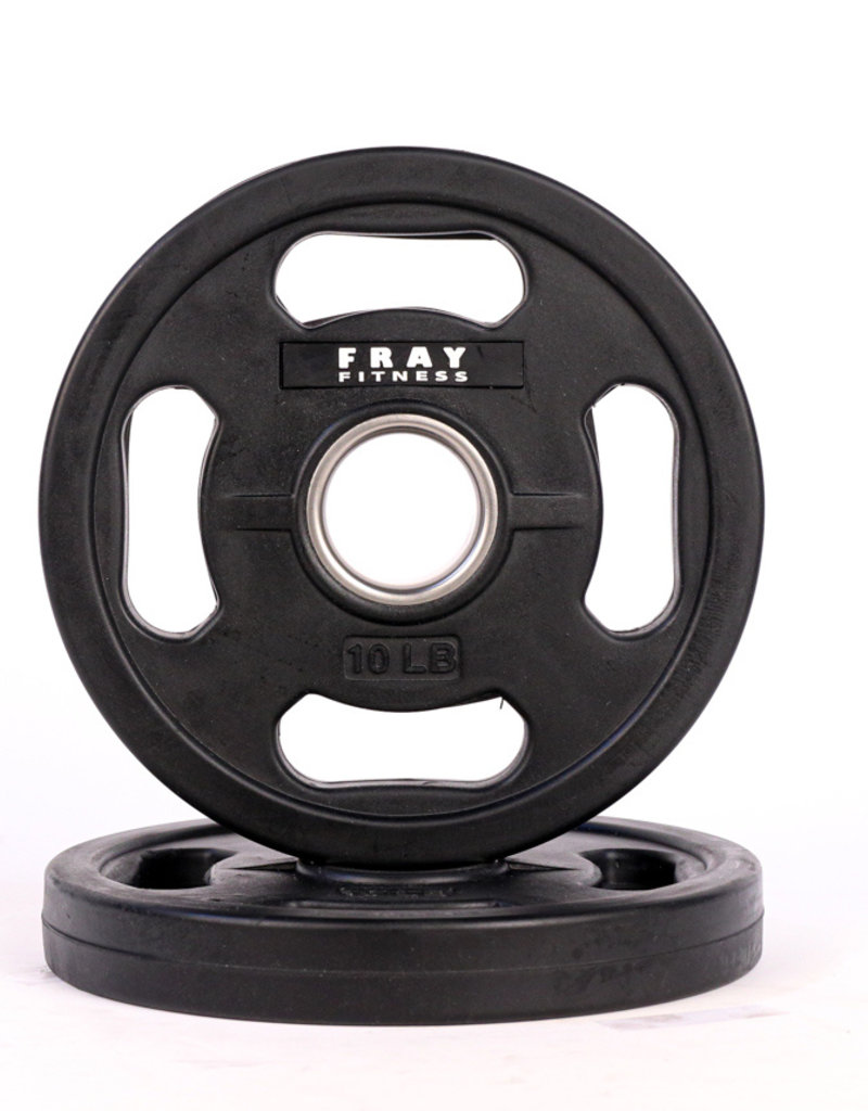Olympic Rubber Coated Weight Plate - 10 LB