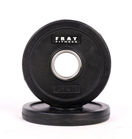 Olympic Rubber Coated Weight Plate - 5 LB
