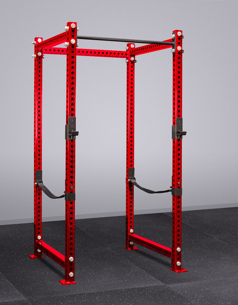 "100"" Tall Savage Power Rack With Safety Straps (Red)"