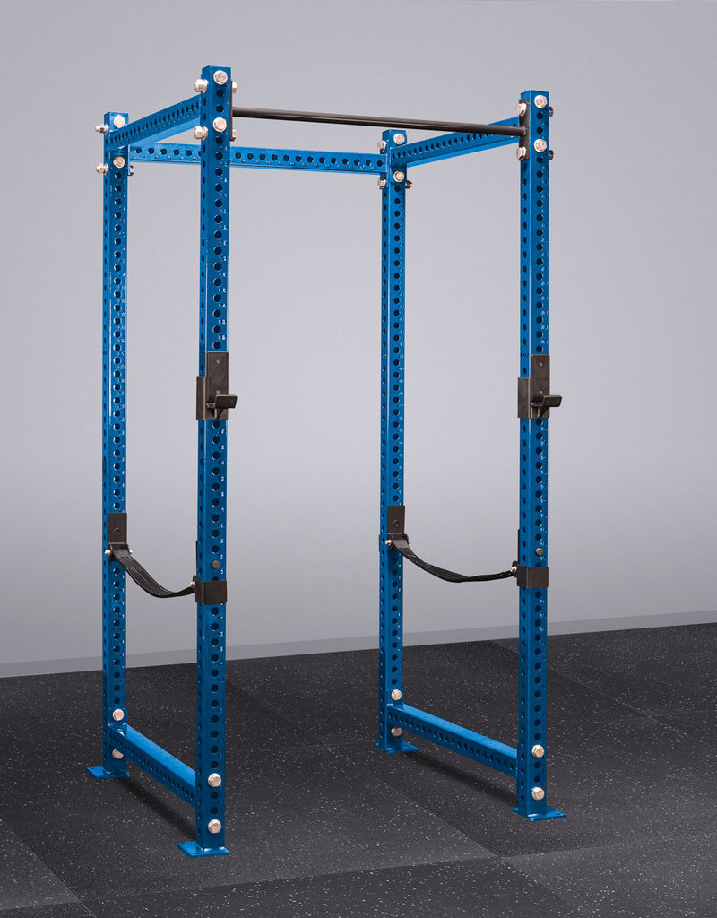 """100"""" Tall Savage Power Rack With Safety Straps (Blue)"""