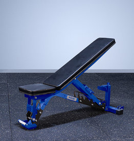 FAB-01E Incline To Flat Commercial Grade Adjustable Bench (Blue)