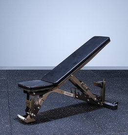 FAB-01E Incline To Flat Commercial Grade Adjustable Bench (Raw Clearcoat)