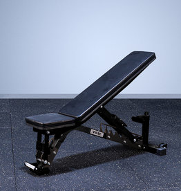FAB-01E Incline To Flat Commercial Grade Adjustable Bench (Black)