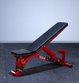 FAB-01E Incline To Flat Commercial Grade Adjustable Bench (Red)