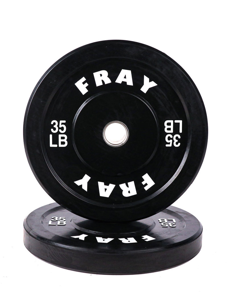 Fray Rubber Bumper Plate 35 Pound