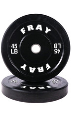 Fray Rubber Bumper Plate 45 Pound