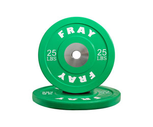 Fray Fitness Barbell Plates Pair 25 LB Rubber Bumper Plates Brand New In The Box