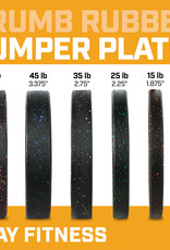 260LB Fray Crumb Rubber Bumper Plate Set