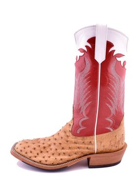 Rios of Mercedes Umber Bruciato Full Quill Ostrich Boot