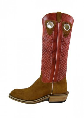 Olathe Boot Co. Rust Crazy Horse Roughout Tall Top Boot