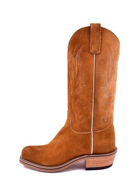 Olathe Boot Co. Rust Crazy Horse Roughout Boot