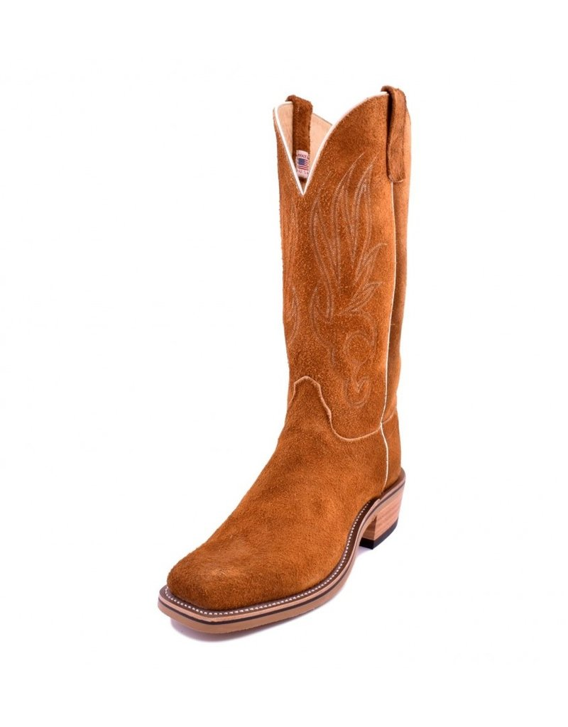 Olathe Boot Co. Olathe Boot Company | Rust Crazy Horse Roughout Boot