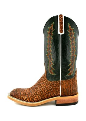 Anderson Bean Boot Company Cognac Safari Elephant/Green Boot