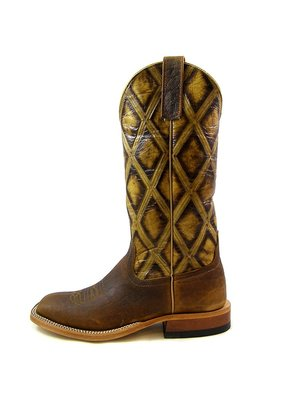 Anderson Bean Boot Company Tan Antique Bison Ladies Boot