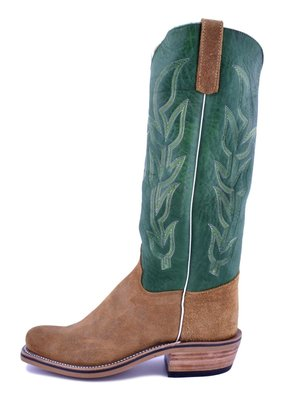 Olathe Boot Co. Rust Ryan Roughout/Jade Navajo Boot