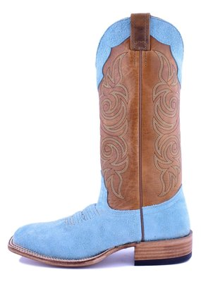 Fenoglio Boot Company Tiffany Blue Roughout Ladies Boot