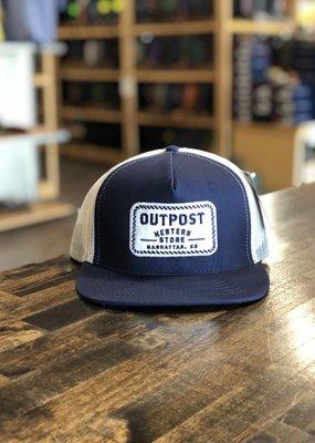 Legendary Headwear Outpost 5-Panel Trucker Cap Navy/White OS