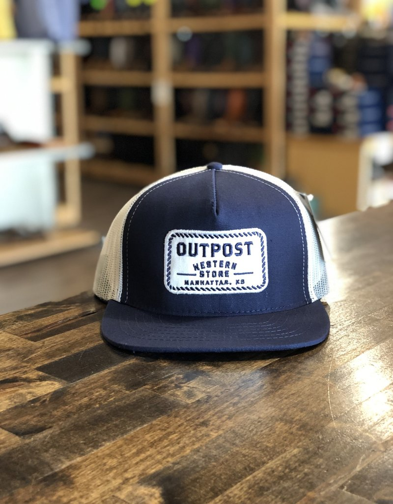Legendary Headwear Outpost 5-Panel Trucker Cap Navy/White OS