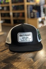 Legendary Headwear Outpost 5-Panel Trucker Cap Black/White OS
