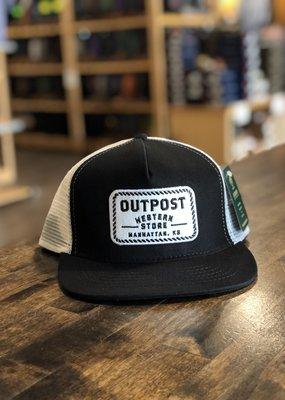 Legendary Headwear Outpost 5-Panel Trucker Cap Black/White OS