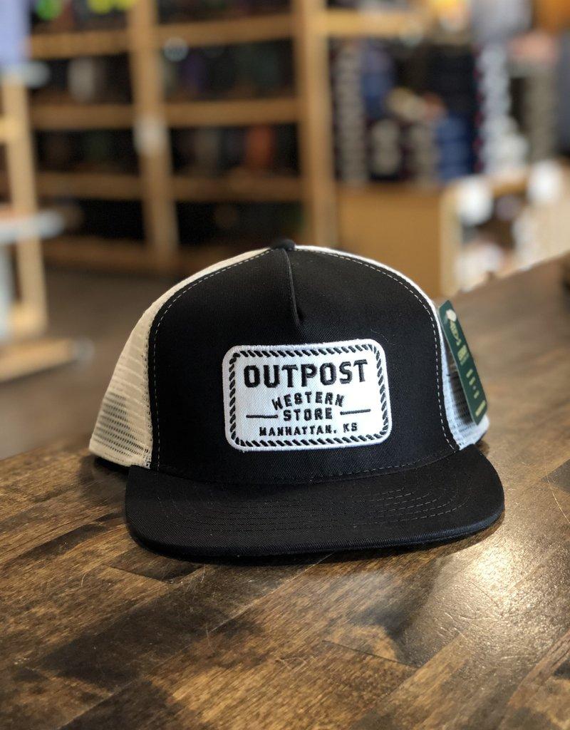 Outpost 5-Panel Trucker Cap Black/White OS