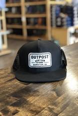 Outpost 5-Panel Trucker Cap Black/Black OS