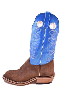 Olathe Boot Co. Brown Ryan Roughout Boot