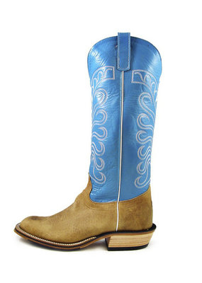 Olathe Boot Co. Distressed Bison Tall Top Boot