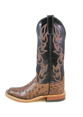 Anderson Bean Boot Company Kango Tobacco Full Quill Ostrich Ladies Boot