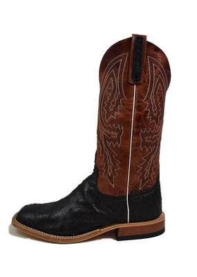 Anderson Bean Boot Company Black Full Quill Ostrich Boot