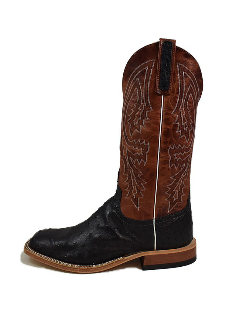 Anderson Bean Boot Company Anderson Bean | Black Full Quill Ostrich Boot