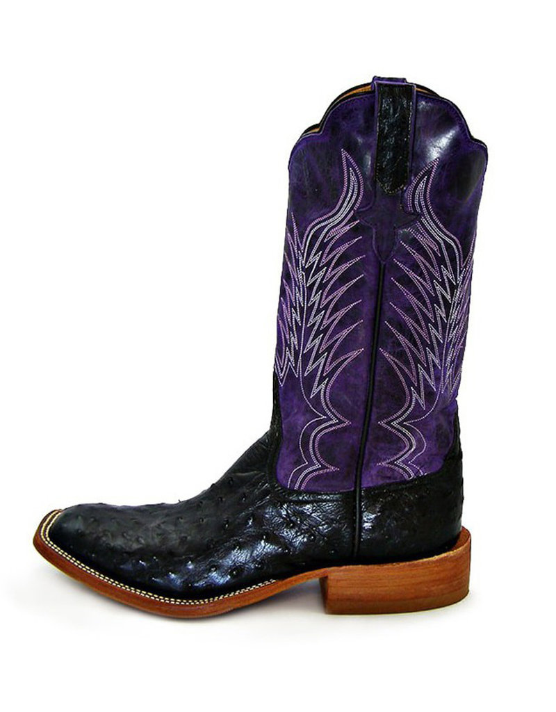Rios Of Mercedes Rios Of Mercedes Black Full Quill Ostrich Boot
