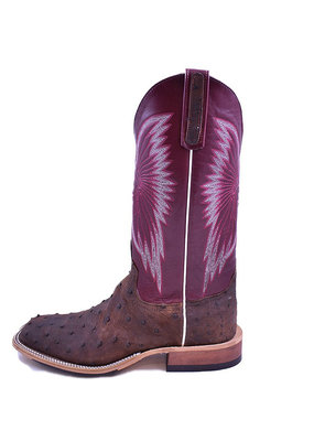 Anderson Bean Boot Company Kango Tobacco Mojave Full Quill Ostrich Ladies Boot