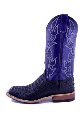 Anderson Bean Boot Company Anderson Bean | Black Lux Horned Back Caiman Boot