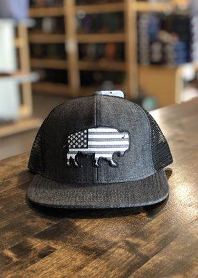 Red Dirt Hat Co. Red Dirt Hat Co. Denim USA Buffalo Cap